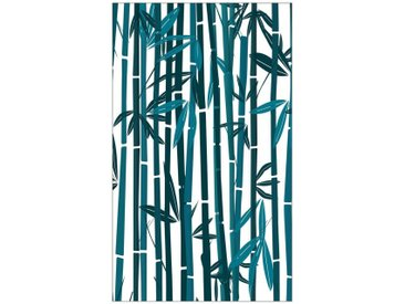 MySpotti MYSPOTTI Fensterfolie »mySPOTTI look Bamboo«, 60 x 100 cm, statisch haftend, grün, 60 cm, petrol/weiß