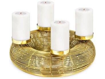EDZARD Adventskranz »Nils«, Goldfarben