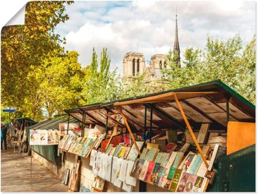 Artland Wandbild »Paris Büchermarkt«, Frankreich (1 Stück), Poster