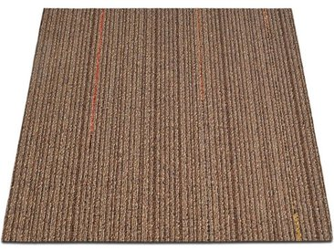 casa pura Teppichfliese »Berlin«, Quadratisch, Höhe 6 mm, Selbstliegend, braun, Braun-Beige K2