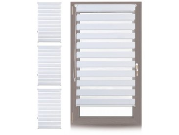 relaxdays Doppelrollo »4 x Doppelrollo Klemmfix Weiß 70x150 cm«