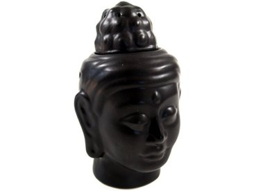 Guru-Shop Duftlampe »Duftlampe in Buddhaform - Buddha 3 schwarz«, Buddha 3 schwarz
