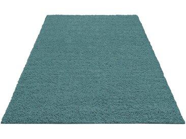 Bruno Banani Hochflor-Teppich »Shaggy Soft«, rechteckig, Höhe 30 mm, gewebt, blau, aquablau