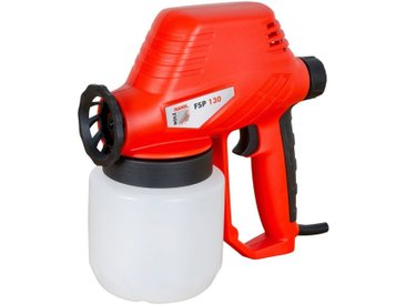 Holzmann HOLZMANN-MASCHINEN Farbspritzpistole »FSP130_230V«, für wasserbasierten Farben, Latex, Lacke und mehr, rot, rot