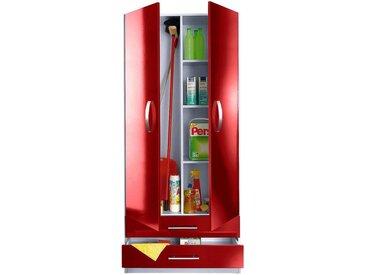 wiho Küchen Mehrzweckschrank »Amrum« 80 cm breit, 2 große Schubkästen, rot, Rot Glanz/Hellgrau