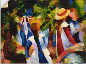 Artland Wandbild »Mädchen unter Bäumen. 1914«, Gruppen & Familien (1 Stück), Wandaufkleber - Vinyl