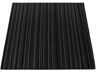 casa pura Teppichfliese »Venice«, Quadratisch, Höhe 6 mm, Selbstliegend, schwarz, Schwarz J4