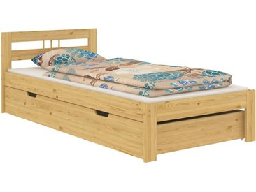 ERST-HOLZ Bett »Bettgestell Einzelbett Massivholz Kiefer natur 100x200 Futonbett ohne Zubehör 60.64-10 oR«