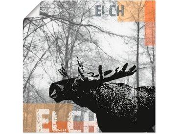 Artland Wandbild »Elch«, Wildtiere (1 Stück), Poster