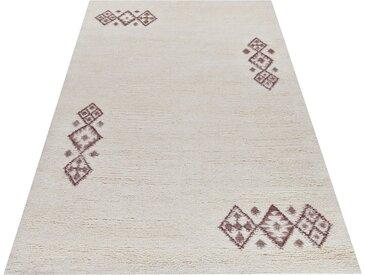 THEKO Wollteppich »Taza Royal 609«, rechteckig, Höhe 28 mm, reine Wolle, echter Berber, handgeknüpft, Wohnzimmer