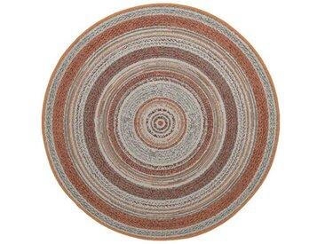 GMD Living Outdoorteppich »STRIPES«, rund, Höhe 5 mm, In- und Outdoor geeignet, rot, kupfer
