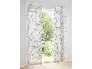 heine home Schiebevorhang bedruckt, weiß, mit Klettband, weiß/mauve