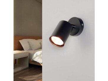 Licht-Erlebnisse Wandleuchte »EYE«, Moderne Wandlampe Grau Strahler verstellbar Spot Leselampe Bett Sofa Lampe
