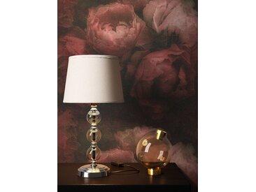 Newroom Vliestapete, Rot Tapete Blumen Floral - Vintage Blumentapete Rosa Schwarz Rosen 3D Optik für Schlafzimmer Wohnzimmer Küche, schwarz, Blumen,Rosen