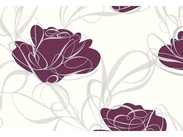 living walls Vliestapete »Fairyland«, floral, geblümt, mit Blumen, weiß, pflaume-weiß