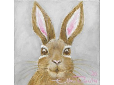 queence Leinwandbild »Little Bunny in Grey«, Hase (1 Stück)