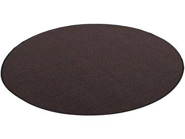 Snapstyle Sisalteppich »Sisal Natur Teppich Rund«, Rund, Höhe 6 mm, schwarz, Schwarz