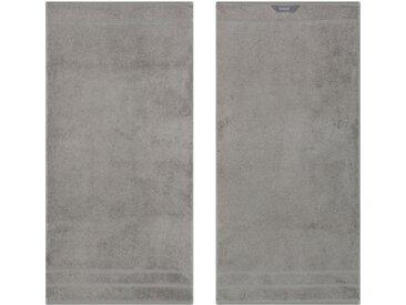 Egeria Handtücher »Prestige« (2-St), in Uni mit Bordüre, grau, grau
