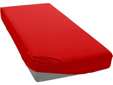 Cinderella Spannbettlaken »Jersey«, mit Gummizug, rot, rot