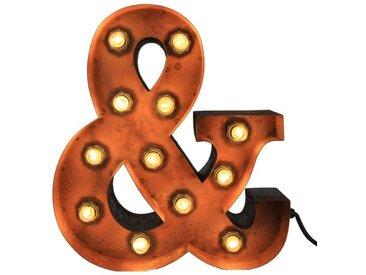 MARQUEE LIGHTS LED Dekolicht »&-Zeichen«, Wandlampe, Tischlampe &-Sign mit 12 festverbauten LEDs - 34cm Breit und 38cm hoch