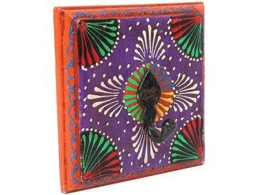 Casa Moro Garderobenleiste »Orientalische Kleiderhaken handbemalte Hakenleiste Vimala aus Massivholz handgeschnitzt in Indian Style, Vintage Kleiderhakenleiste«