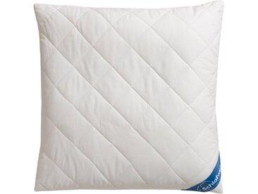 Schlafwelt Naturfaserkopfkissen, »Tencel KbA«, Füllung: Faserbällchen, Bezug: Baumwollgewebe aus Bio-Baumwolle, (1-tlg), Bezug mit Tencel versteppt