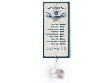 GILDE Metallschild, Wetterstein, Wetterstation als Aluschild, Modell Küste mit Muschel, Material Metall, Maße Schild 30 x 14 cm