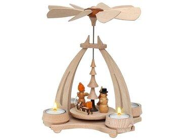SIGRO Holz Teelicht-Tischpyramide SM & WM Figuren, bunt, Bunt