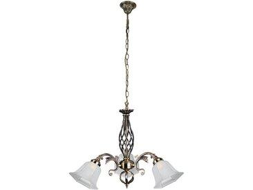 SPOT Light Kronleuchter »Wella«, Hochwertiger Kronleuchter aus Metallguss, mit Schirmen aus Glas, sehr dekorativ, passende LM E27 / exklusive