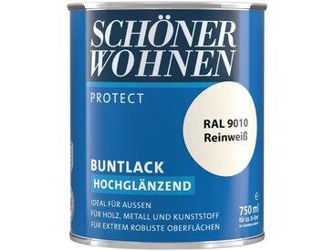 SCHÖNER WOHNEN-Kollektion SCHÖNER WOHNEN FARBE Lack »Protect Buntlack«, hochglänzend, 750 ml, reinweiß RAL 9010, weiß, weiß