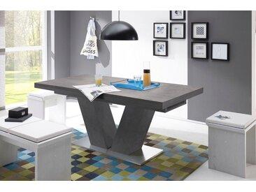 Esstisch »Komfort D«, mit V-Gestell in graphit und mit Auszugsfunktion, Breite 160-260 cm, grau, graphit