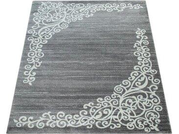 Paco Home Teppich »New 407«, rechteckig, Höhe 15 mm, Kurzflor mit wohnlichem Design, grau, grau