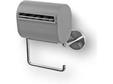 bideo Toilettenpapierhalter, mit Befeuchtungsfunktion grau