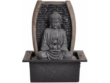 Dehner Zimmerbrunnen »Zimmerbrunnen Zen-Buddha mit LED, 26 x 21 x 18 cm«, 21 cm Breite