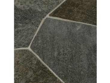 Bodenmeister Vinylboden »PVC Bodenbelag Steinoptik«, Meterware, Breite 200/300/400 cm, grau, dunkelgrau