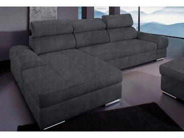 sit&more Ecksofa, grau, ohne Bettfunktion, dunkelgrau