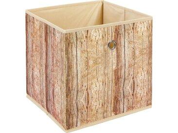 Home affaire Aufbewahrungsbox, braun, hellbraun