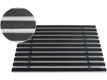 ACO Severin Ahlmann GmbH & Co. KG Fußmatte »ACO 100x50x2cm Schuhabstreifer Gummimatte ALU Fußmatte Türmatte Gummi Eingangsmatte«, rechteckig, Höhe 20 mm, geeignet für den Innenbereich und überdachten Außenbereich