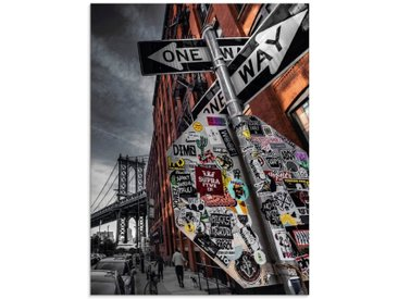 Artland Glasbild »New York Street Fotografie«, Amerika (1 Stück)