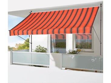 KONIFERA Klemmmarkise »400x150 cm« Breite/Ausfall: 400/150 cm, orange, orange-braun