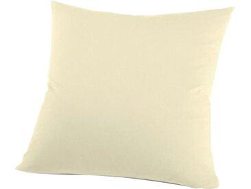 Schlafgut Kissenbezug »Nelke«, (1 Stück), Interlock-Jersey, soft und weich, braun, Interlock-Jersey, ecru