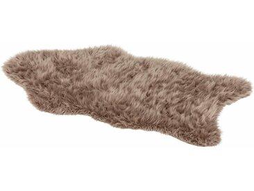 ASTRA Fellteppich »Mia«, fellförmig, Höhe 50 mm, Kunstfell, waschbar, braun, braun