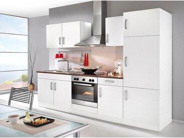 HELD MÖBEL Küchenzeile »Toronto«, ohne E-Geräte, Breite 270 cm, weiß, weiß/nussbaumfarben