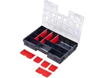 BigDean Sortimentskasten »Organizer 4−14 Fächer Kleinteilemagazin Schraubenbox Werkzeugkasten Sortierkiste«