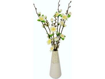 I.GE.A. Kunstblume »Kirschblütenbund«, Höhe 41 cm, Vase aus Keramik, weiß, weiß