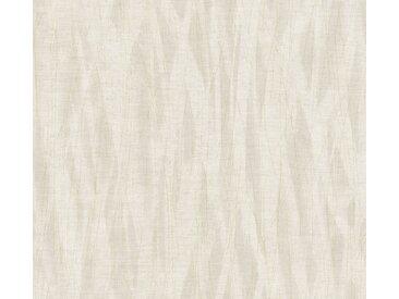 A.S. Création Vliestapete »Emotion Graphic«, strukturiert, Streifen, mit Muster, weiß, hellbraun-weiß