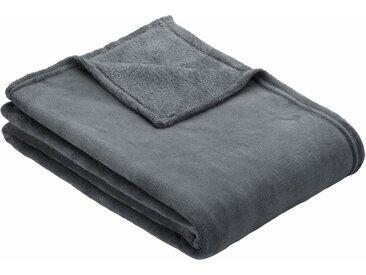 IBENA Wohndecke »Chloe«, einfarbig gehalten, grau, anthrazit