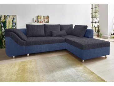 COLLECTION AB Ecksofa, mit Bettfunktion und Bettkasten, blau, blau-blaubraun