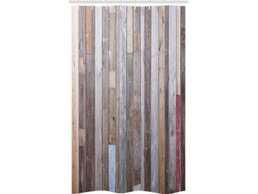 Abakuhaus Duschvorhang »Badezimmer Deko Set aus Stoff mit Haken« Breite 120 cm, Höhe 180 cm, rustikales Holz Retro-Effekt-Fotografie