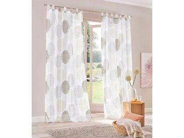 my home Gardine »Belem«, Schlaufen (1 Stück), Vorhang, Fertiggardine, transparent, natur, stein